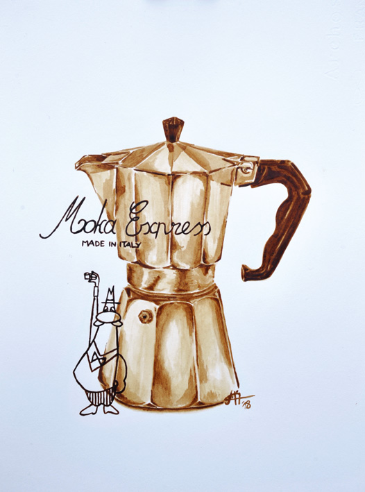 moka, anne bantz, cafe-aquarell